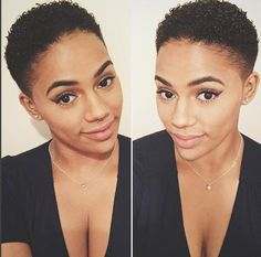 Tapered TWA Cut Curls IG:@thelondoncurls #naturalhairmag