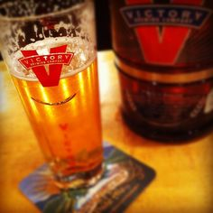 ahhh. enjoying a Victory Beer! cool glasses to, eh? (got some for Xmas!) #VictoryBeer Victory Brewing Co downingtown pa