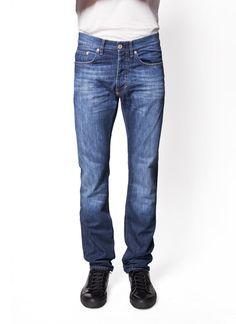 Acne Studios - Fall Winter 2014 - Menswear // Blue Roc Verakai Regular Waist Jeans, Slim Leg, Straight From Knee