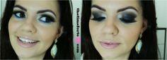 Blog Thati Maforte Tudo para Maquiagem: Maquiagem preta com um toque de azul