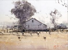 Joseph Zbukvic : is one of the finest master watercolor painters in the world; his watercolor painting instruction workshops sell out w. Watercolor Sketch, Watercolor Landscape, Landscape Paintings, Watercolor Paintings, Watercolours, Landscapes, Joseph Zbukvic, 3d Max, Paintings I Love