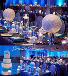 Turquoise and pewter winter wonderland wedding
