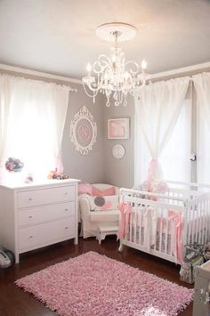 Check Out 17 Pink Nursery Room Design Ideas For Your Baby Girls. If the baby is female, a pink nursery would immediately come to mind. Baby Bedroom, Baby Room Decor, Nursery Decor, Nursery Design, Baby Rooms, Baby Girl Bedroom Ideas, Bedroom Decor, Room Baby, Budget Nursery