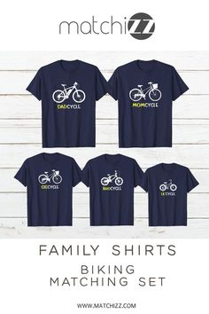 7e062c2a Cycling Family Outfit Bicycle Mom Dad Son Daughter Matching Shirts  #familyshirts #familyoutfits #familymatchingoutfits. Matchizz