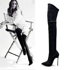 Women Over The Knee High Stretchy Sexy Stiletto Heel Snow Boots – AZMODO.COM