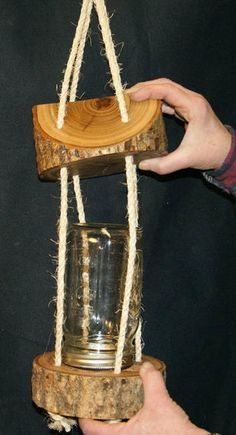I made one of these log bird feeders many years ago. I wanted it to look like a lantern, but it is not lighted, so it is just a bird feeder. Maybe next time the...