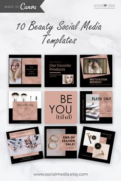 Spending too much time creating posts for your soc Social Media Template, Social Media Design, Social Media Graphics, Instagram Design, Instagram Images, Instagram Posts, Feeds Instagram, Creative Communications, Graphic Design Tools