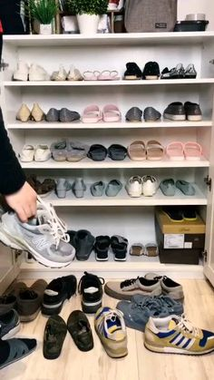 Shoe Slots Organizer, Adjustable Double Layer Stack Shoe Rack, Space-Saving Storage Rack Holder, White [Video] in 2020 (With videos) Shoe Storage Solutions, Diy Shoe Storage, Diy Shoe Rack, Storage Rack, Handbag Storage, Storage For Shoes, Shoe Storage Ideas Bedroom, Shoe Rack Bedroom, Diy Shoe Organizer