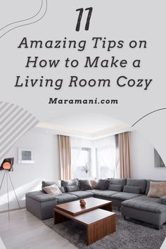 11 Amazing Tips on How to Make a Living Room Cozy Modern Home Bar, Modern Home Interior Design, Small Modern Home, Dream Home Design, House Design, Bedroom Curtains, Home Decor Bedroom, Living Room Decor, Big Living Rooms