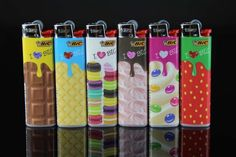 BIC LIGHTERS !CHOCOLATE DESIGN