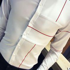 Plain White Shirt, White Shirts, Designer Casual Shirts, Shirt Style, Size Chart, Shirt Designs, Men Shirt, T Shirts For Women, Black And White