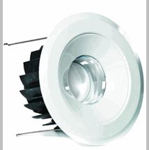 """$27.00   LED 6"""" retrofit recessed can trim -  (maintenance free up to 13 years, dimmable, 5 year limited warranty, suitable for damp location, 3000K, compatible to 6"""" IC housings)"""