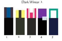 Color Equations for Dark Winter 2