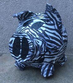 Sparschwein Zebra Motiv Geldgeschenk Schwein Geschenk Geburtstag Hochzeit Box