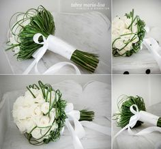 bridal bouquet by tabea maria-lisa (www.tabeamarialisa.ch) | roses | white green