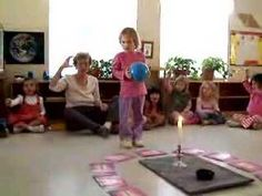 Birthday Ceremony at Montessori... Like the song and the signs with it... Like how she pre taught the song