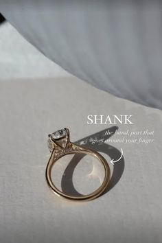 Anatomy of an Engagement Ring: 1.Shank 2. Basket 3. Prongs. Learn more and find your unique custom ring or wedding band at SusieSaltzman.com