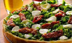 Pizza de Rúcula com Tomate Seco