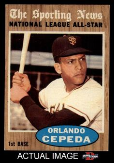 1962 Topps #390 Orlando Cepeda  - All-Star Giants NM #Giants