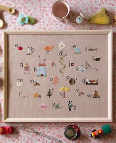 My Sweetiepie ABCs Cross Stitch Sampler Kit