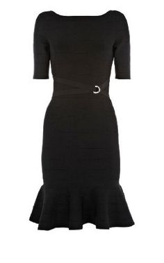 YES! Come December 1, this is what i'm gonna run right out and buy. Karen Millen Frill Skirt Bandage Knit Dress $299