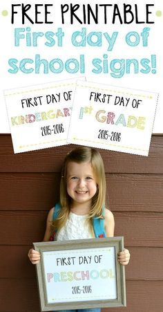 Perfect for first day of school pictures each year! {Free Printable}
