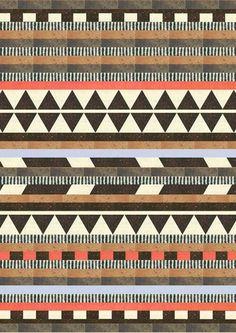 quilt inspiration Aztec by Dawn Gardner Ethnic Patterns, Textile Patterns, Textile Design, Print Patterns, Geometric Patterns, Geometric Art, Surface Pattern, Pattern Art, Surface Design