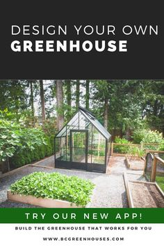 Design and price the greenhouse that works for you with our new app! It's fun and informative too! Veg Garden, Garden Sheds, Lawn And Garden, Garden Plants, Greenhouse Shed, Greenhouse Gardening, Chicken Coups, Shed Cabin, Green Houses