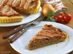recipe_for Darált húsos pite (pie) Meatloaf, French Toast, Bacon, Pie, Breakfast, Desserts, Recipes, Food, Torte