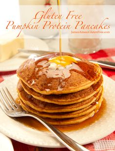 Delicious Gluten-Free Pumpkin Protein Pancakes by Janice Amees Gluten Free
