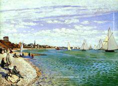 Claude Monet Regatta at Sainte-Adresse, 1867 painting free shipping, painting