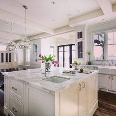 White kitchen with great details