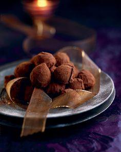 Truffes au chocolat praliné
