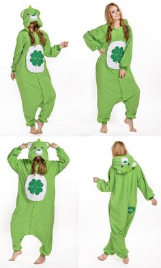 Unisex Adult Anime  onesies  green  bear Halloween Cosplay Costume Pyjamas  Bear Halloween 698da093f14b