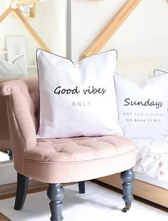 Typography cushion cover,typography pillow,word cushion cover,word pillow,monochrome cushion,embroidered cushion,pillowcase,scandi pillow Typography Cushions, Embroidered Cushions, Good Vibes Only, Monochrome, Bed Pillows, Accent Chairs, Pillow Cases, Trending Outfits, Cover