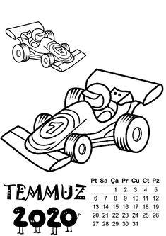 2020 Erkek Takvim Kalıbı | OkulöncesiTR-Preschool Student Calendar, Calendar 2020, Google Brain, Tax Refund, Simple Stories, Goods And Services, Preschool Activities, Coloring Pages, Playing Cards