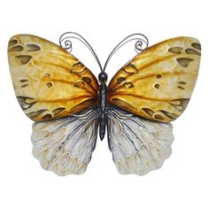 Shop for Hand-painted Honey Metal Butterfly Wall Art (Philippines). Free Shipping on orders over $45 at Overstock.com - Your Online Home Decor Destination! Get 5% in rewards with Club O!