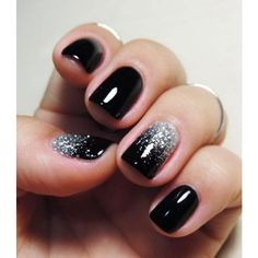 25+ Elegant Black Nail Art Designs ❤ liked on Polyvore featuring beauty products, nail care and nail treatments