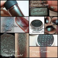 THIS is my biggest makeupobsession right know. Metallic Brown/blue/green-ish…