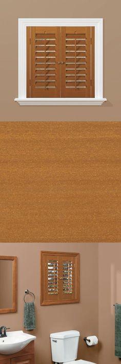 Shutters 66799: Plantation Faux Wood Oak Interior Shutter Actual Shutter  Size: 39 W X 36