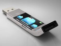 View your files on the screen of this USB design concept. Such a cool idea!