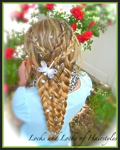 Locks and Locks of Hairstyles: Bohemian Twist with a Rope Twist Locks and Locks of Hairstyles: Bohem Cute Girls Hairstyles, Pretty Hairstyles, Braided Hairstyles, Toddler Hairstyles, Bohemian Hairstyles, Rapunzel Braid, Tangled Rapunzel, Locks, Hair Dos