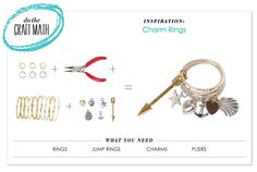 Do the craft math! P.S.- I made this...Charm Rings #PSIMADETHIS #DIY