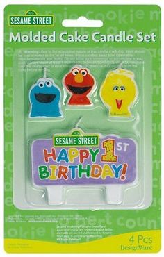 Sesame Street 1st - Molded Candle Set (4 count) - Listing price: $4.90 Now: $4.22