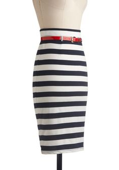 Nautical Skirt... with a red tank top and red shoes would be really cute!
