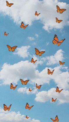 Butterfly Wallpaper Iphone, Cartoon Wallpaper Iphone, Homescreen Wallpaper, Iphone Background Wallpaper, Retro Wallpaper, Iphone Cartoon, Iphone Wallpaper Tumblr Aesthetic, Aesthetic Pastel Wallpaper, Tumblr Wallpaper