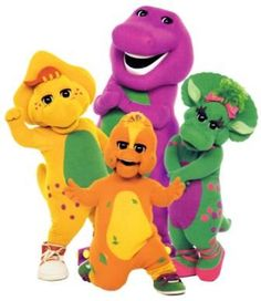 barney - Barney was one of my favorite shows when I was younger. Anytime I would spend the Summer with my grandparents my grandpa would always watch barney with me and entertain me. I remember learning the songs and stuff.