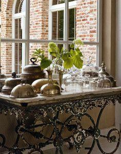 Iron Console Table Old World Tuscan Hacienda Rustic