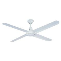 Hunter Pacific Typhoon Ceiling Fan with Metal Blades White 1420mm