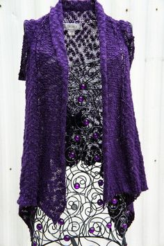DECREE Knit Purple Shrug Sweater Size M/M